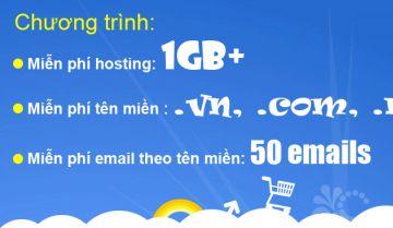 Miễn phí Domain + Hosting năm 2010