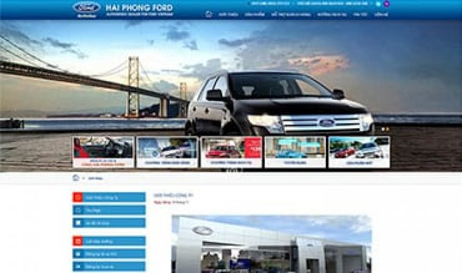 Thiết kế website - Hải Phòng Ford