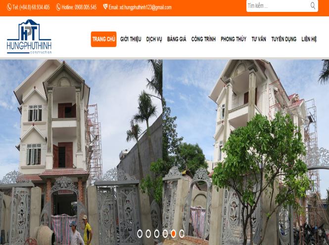 Thiết kế website - Công ty TNHH Xây dựng ĐT & PT Hưng Phú Thịnh