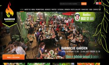Thiết kế website - Barbecue Garden