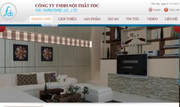 Thiết kế website - Nội thất FDC