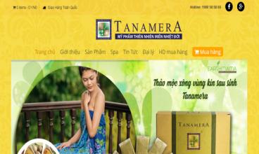 Thiết kế website - Mỹ phẩm Tanamera