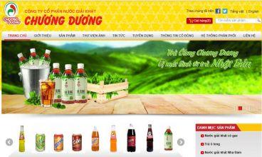 Thiết kế website - Nước giải khát Chương Dương