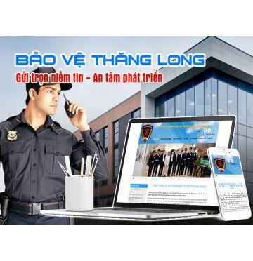 Thiết kế web Công ty dịch vụ bảo vệ chuyên nghiệp Thăng Long