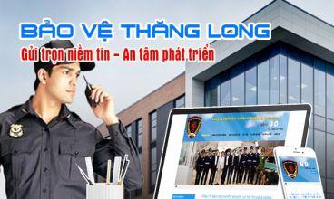 Thiết kế website - Công ty dịch vụ bảo vệ chuyên nghiệp Thăng Long