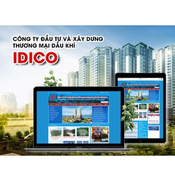 Thiết kế web Công ty cổ phần đầu tư xây dựng thương mại dầu khí - IDICO