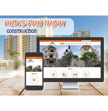 Thiết kế web Công ty TNHH Xây dựng ĐT & PT Hưng Phú Thịnh