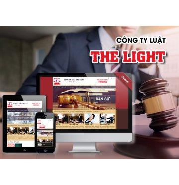 Thiết kế web Công ty Luật The Light