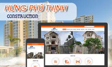 Thiết kế website - Công ty Xây dựng Hưng Phú Thịnh
