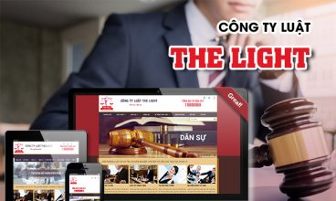 Thiết kế website - Công ty Luật The Light