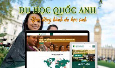 Thiết kế website - Công ty tư vấn du học Quốc Anh I.E.C