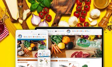 Thiết kế website - Thực phẩm sạch HD