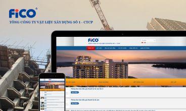 Thiết kế website - Tổng công ty VLXD số 1 FiCO