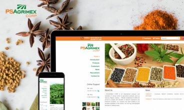 Thiết kế website - Psagrimex Corp