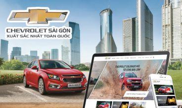 Thiết kế website - Chevrolet Sài Gòn