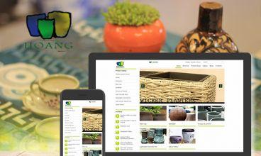 Thiết kế website - Gốm sứ Hoàng (Hoang Pottery)