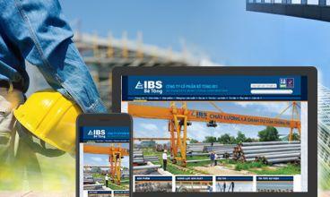 Thiết kế website - Công ty Cổ phần Bê tông IBS