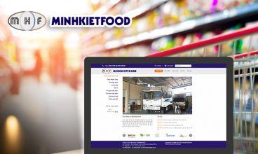 Thiết kế website - Thực phẩm Minh Kiệt Food