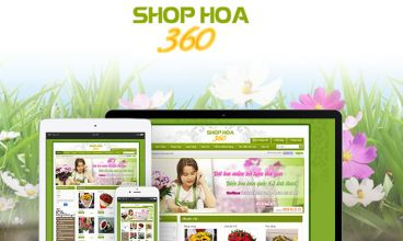Thiết kế website - Shop hoa 360