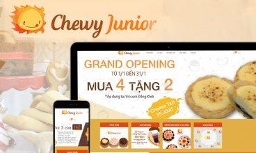 Thiết kế website - Nhà hàng Chewy Junior