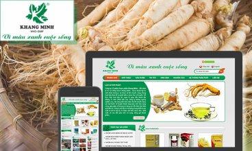Thiết kế website - Dược phẩm Khang Minh