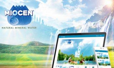 Thiết kế website - Nước khoáng MIOCEN