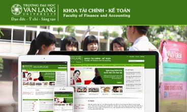Thiết kế website - Khoa kế toán trường Văn Lang