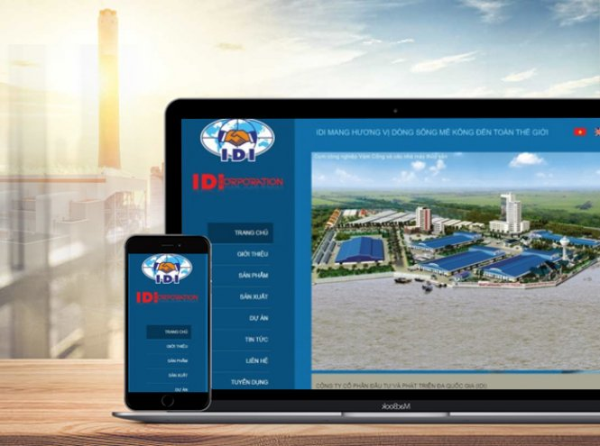 Thiết kế website - Công ty IDI