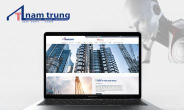 Thiết kế website - Công ty Nam Trung