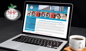 Thiết kế website - Công ty phát hành sách báo Nhung Hoàng Phát