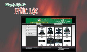 Thiết kế website - Phúc Lộc Audio