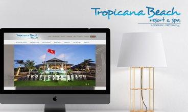 Thiết kế website - Thiết kế web Tropicana Beach Resort