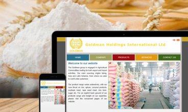 Thiết kế website - Thiết kế web Tập đoàn kinh doanh sản xuất nông sản Goldman