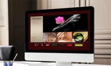 Thiết kế website - Thiết kế web Lotus Paper