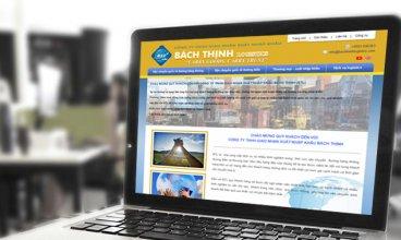 Thiết kế website - Thiết kế web Công ty vận chuyển Bách Thịnh Logistics