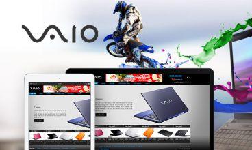 Thiết kế website - Laptop Vaio