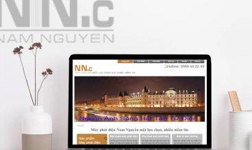 Thiết kế website - Máy phát điện Nam Nguyên