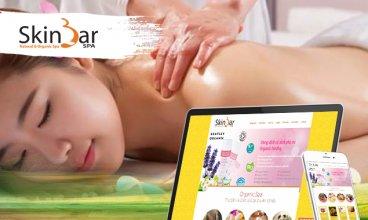Thiết kế website - Chăm sóc da Skinbar