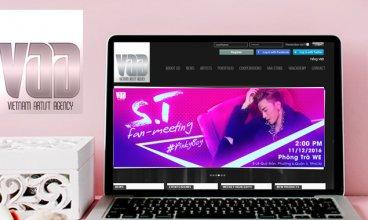 Thiết kế website - Thiết kế web Vietnam Artist Agency